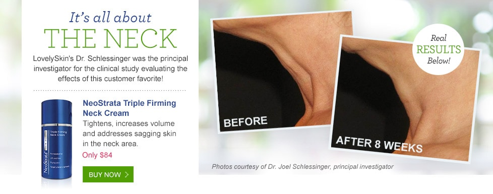 Neostrata Skin Active Triple Firming Neck Cream creates real results.